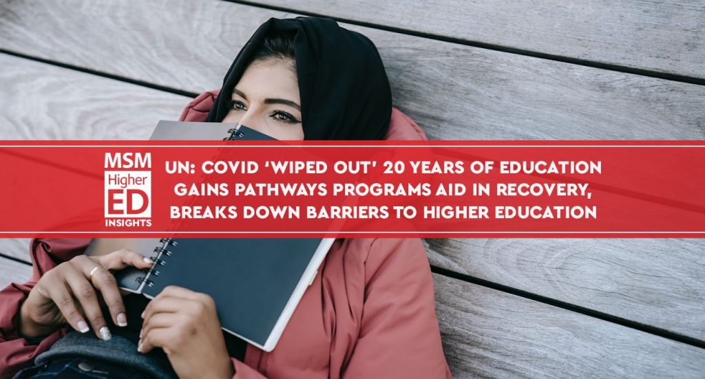 Covid wiped out education banner