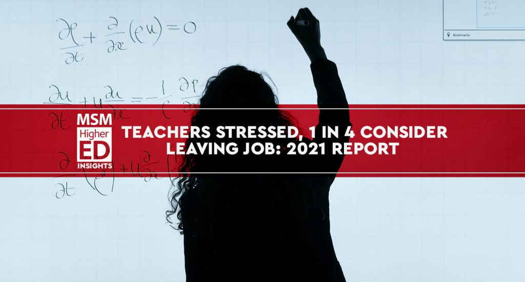 teachers stress during pandemic banner