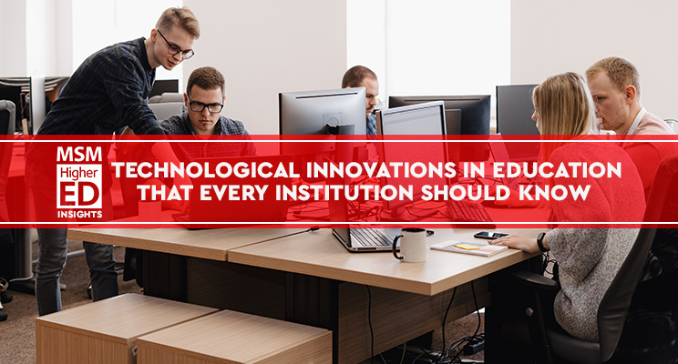 technological innovation in education web banner