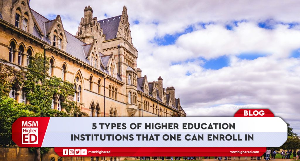 Types of Higher education institute that can enroll in banner image